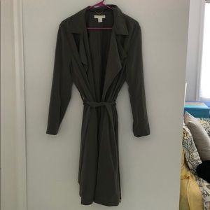 Olive green H&M trench coat